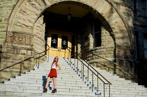 The Wardrobe Campaign: AmberLyn at The Old Capitol Building